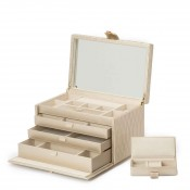 Leather Jewelry Box, 33x21.5x21cm - Champagne - Large