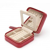 Zip Travel Jewelry Case - Red