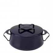 Round Casserole Dish/Pan, 20cm, 1.9L (2Qt) - Midnight Blue