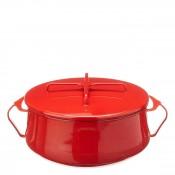 Round Casserole Dish/Pan, 24cm, 5.7L (6Qt) - Chili Red