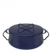 Round Casserole Dish/Pan, 22cm, 3.8L (4Qt) - Midnight Blue