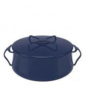 Round Casserole Dish/Pan, 24cm, 5.7L (6Qt) - Midnight Blue