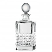 Square Base Decanter with Stopper, 26cm, 740ml - Clear