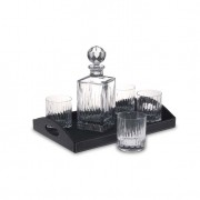 Bar Set with Leather Tray