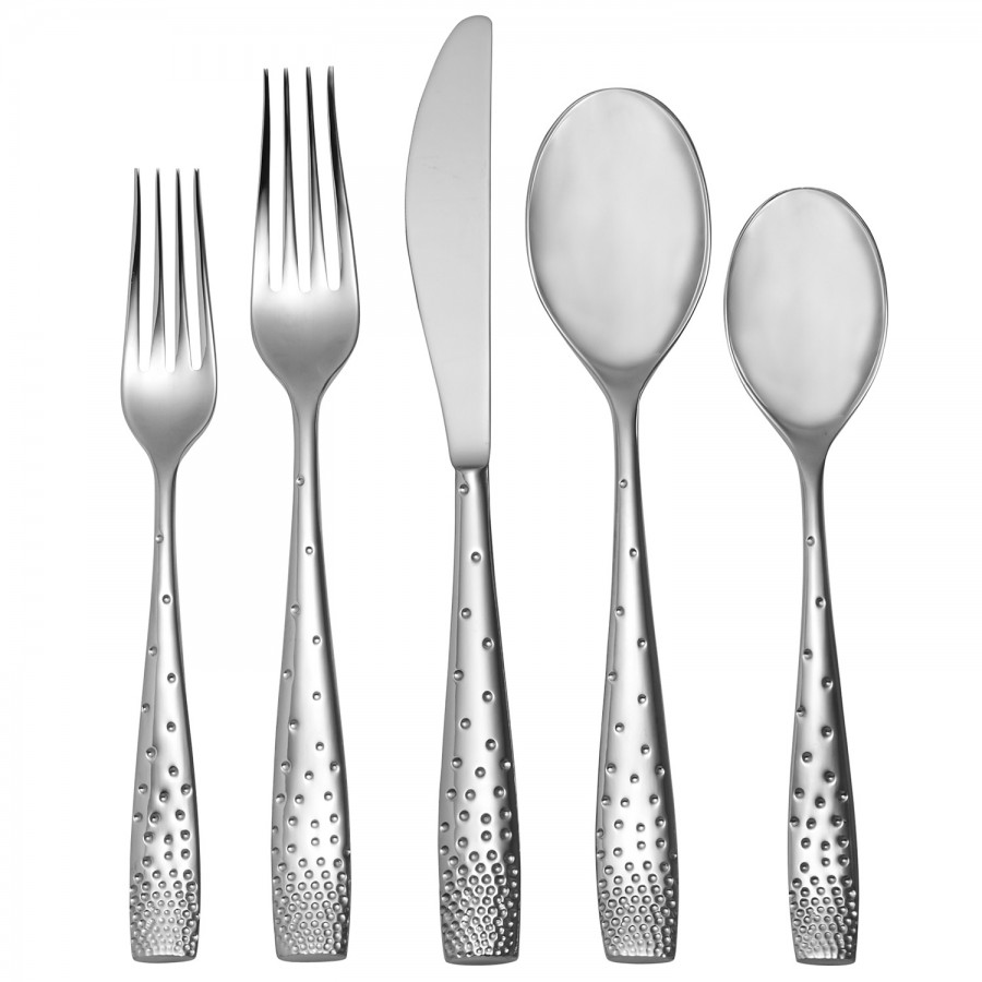 5 piece place setting serrated knife william ashley china - Splendide flatware patterns ...