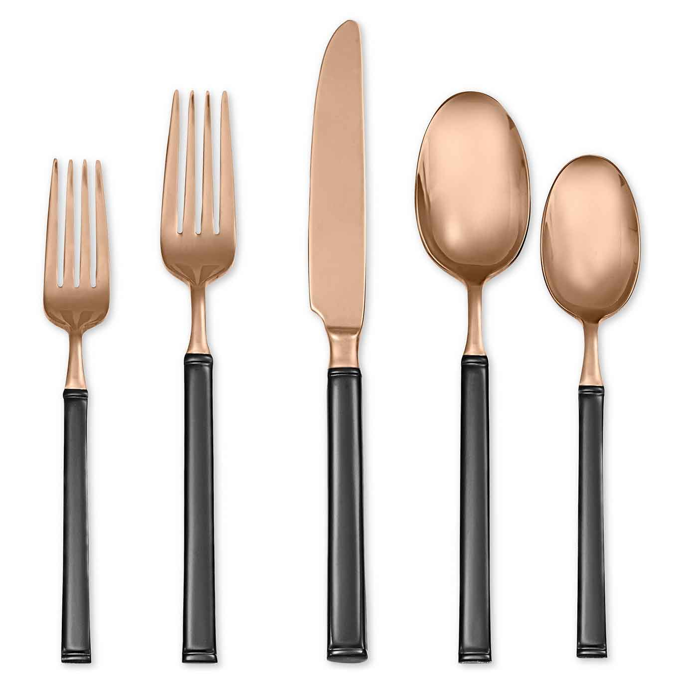 5 Piece Place Setting - Rose Gold