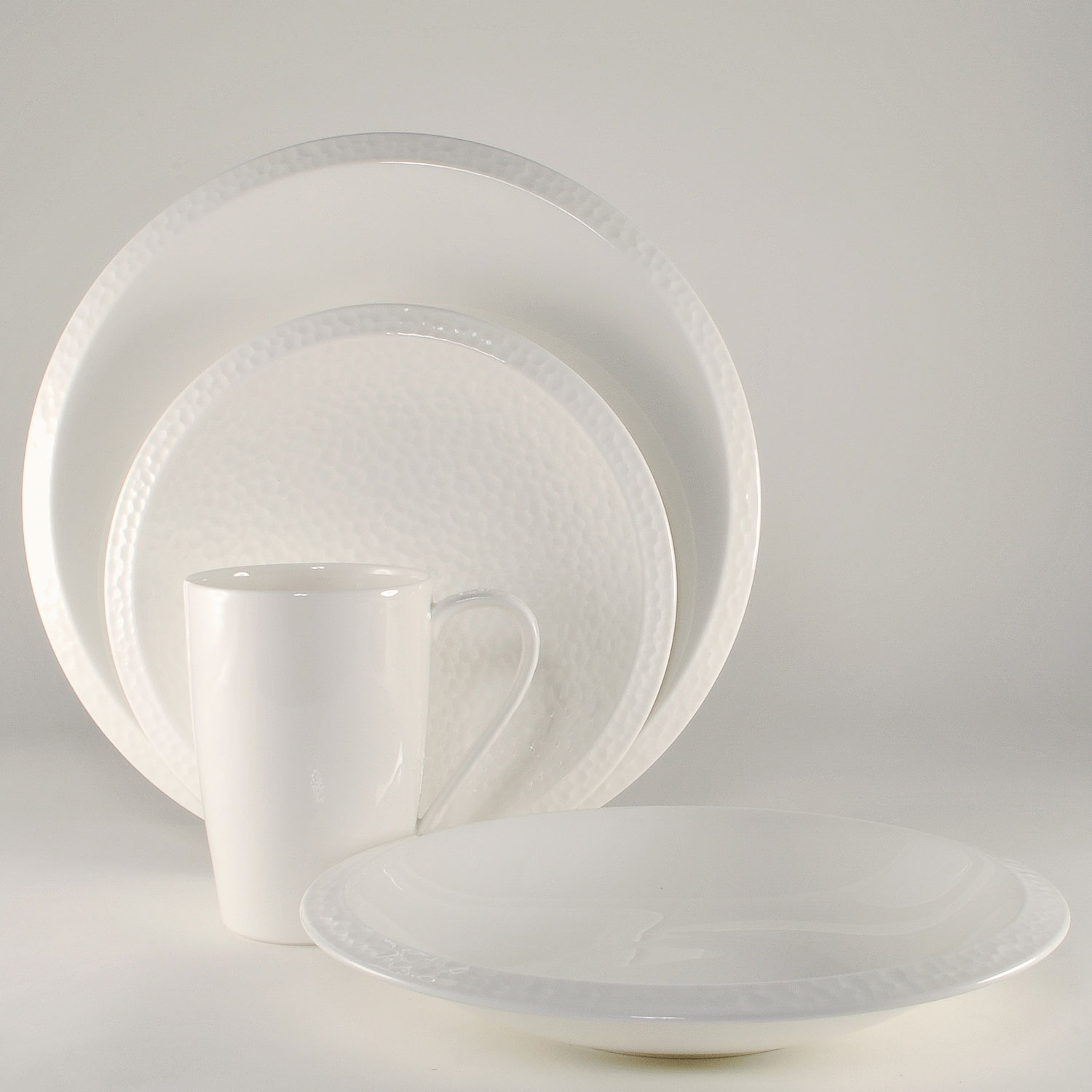 4 Piece Place Setting - Rim Soup Bowl