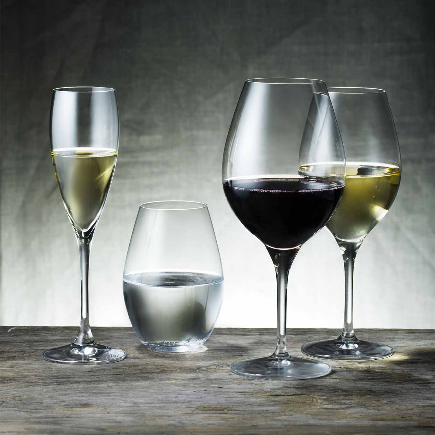 Set/4 XL Red Wine Glasses, 22.5cm, 590ml
