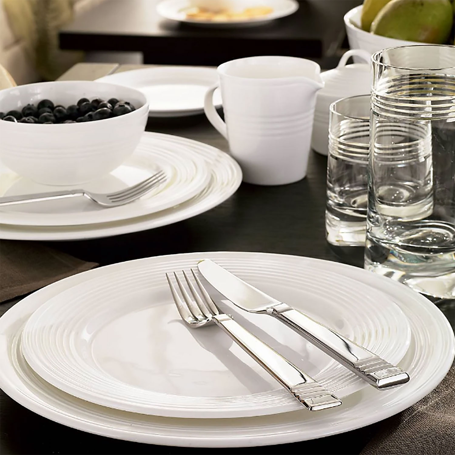 """Four"" - 4 Piece Place Setting - All Purpose Bowl"
